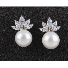 High Quality Zircon Stone Earring Inlaid Allergy Simple Fashion Jewelry