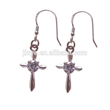 Fashion Bling Bling Bling 18k Boucles d'Oreilles Cross