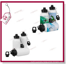 400ml Sliver and White Sublimation Sports Water Bottle with Two Lids
