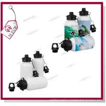 400 мл ленты и белая Сублимационная Спорт бутылку воды с двумя крышками