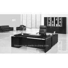 Black Melamine Executive Table Costume moderne de meuble de bureau exécutif