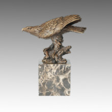 Animal Statue Eagle and Branch Bronze Sculpture Tpal-283