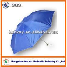 Tragbare billig 3 Fach Sonnenschirm Regenschirm