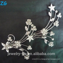 Мода цветок невесты гребень дамы волосы украшения гребень разные волосы расчесывает волосы зажимы металла