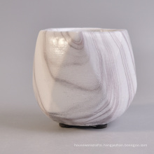New Design Diamond Irregular Shaped Marble Water Transfer Concrete Candle Containers