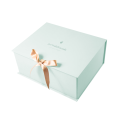 Magnetic Paper Folding Box with Ribbon Closure
