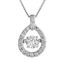 Colgantes calientes de las ventas 925 que bailan la joyería del diamante