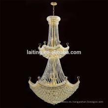 Guzhen iluminación lámpara colgante lámpara de araña de techo de cristal chino para hotel proyecto 62037