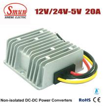 Fuente de alimentación impermeable de 12V 24V a 5V 20A 100W LED
