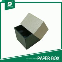 Caja de collar de anillo de joyería de cartón de lujo
