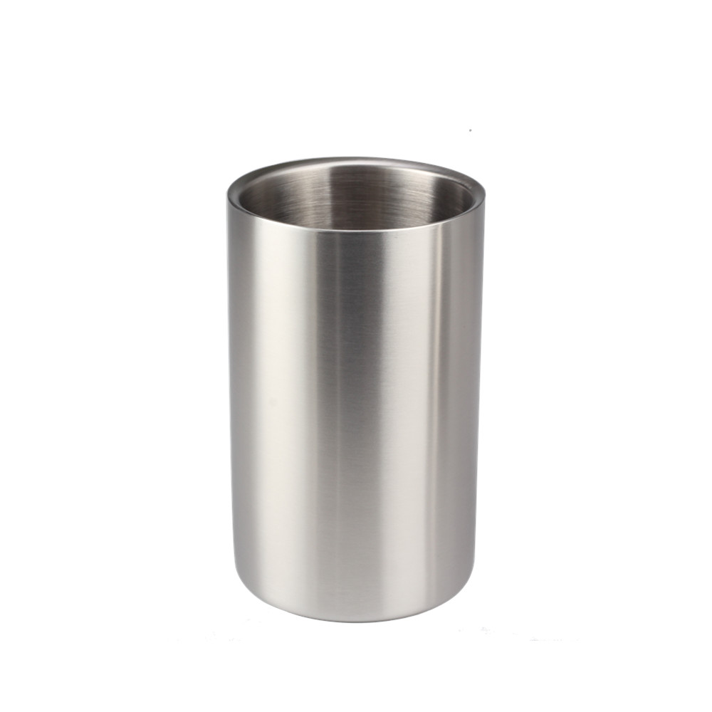 Silver Food Grade Stainless Steel Ice Bucket