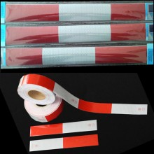 2'' white and red reflective Vehicle tape