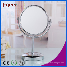 Fyeer Attractive Round Table Mirror Magnifying Brass Makeup Mirror