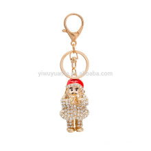 high quality father christmas key chain