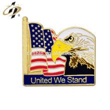 Articles promotionnels en métal émail aigle broche badges pour la fête nationale