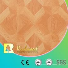 12.3mm E0 AC4 Grabó en relieve el suelo de madera laminado absorbente del roble de la nuez
