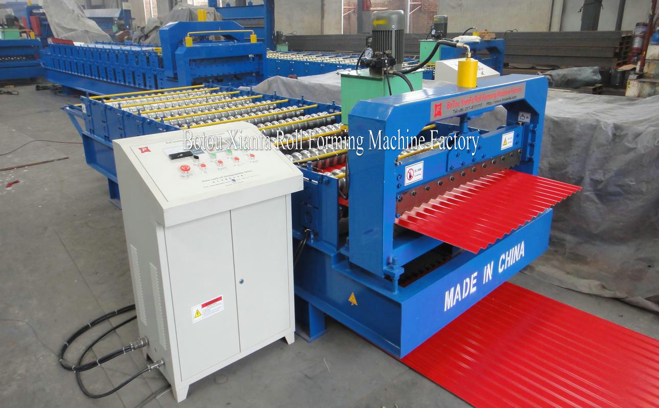 corrugated roof tile sheeting machine