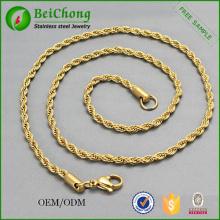 Venta por mayor coreano joyas de oro collar de oro