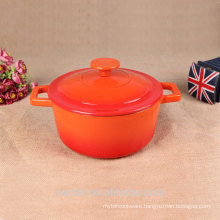 hot sale colorful enameled small size dishes pot