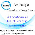 Shenzhen Port Sea Freight Shipping à Long Beach