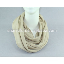 wholesale super soft 12gg flat knitted men's 100% pure cashmere snood