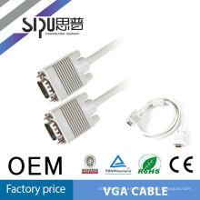 SIPUO alta calidad 15 pin vga de 20 metros cable3 + 4 Especificación