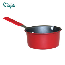 Home Basic Classic Red Nonstick Saucepan Induction Bottom