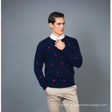 Camisola masculina de cashmere 17brpv128
