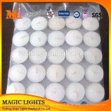 Heißer Verkauf Konkurrenzfähiger Preis Creme Farbe Einzigartige Runde Schwimmende Kerzen