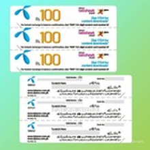 Paper Multi-Pin Mobile Recharge Card