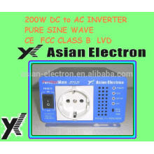 12VDC 24VDC 48VDC & 110VAC / 220VAC 200W Wechselrichter