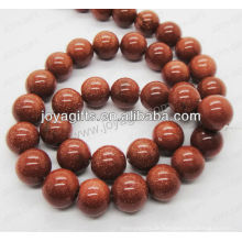 Rote Goldstein runde Perlen / 4mm / 6mm / 8mm / 10 / mm / 12mm Klasse A