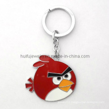 Charm Keychain Metal Enamel Bird Shape Gift
