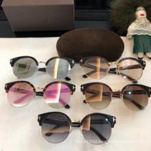 Women's Colorful Round Classic Sunglasses