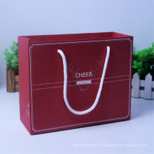 Boîte en papier élégante avec poignées