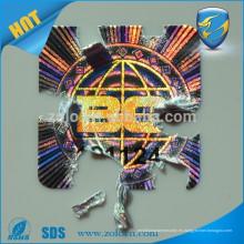 Adhesivo holográfico anti-falsificación personalizado de la cáscara de huevo del holograma del laser 3d