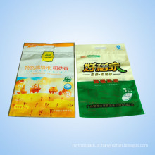 Saco de empacotamento plástico do zíper do arroz com punho