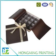 Wholesale Cardboard Chocolate Paper Box with Silk Ribbon