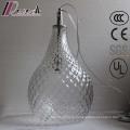 European Living Room Transparent Glass Pineapple Shape Pendant Lamp
