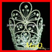 Beauté fleur design diamant reine courte tiare couronne