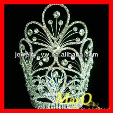 Красота цветок дизайн бриллиант королева конкурс тиара корону