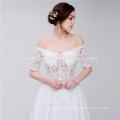 Bridal Scoop Neckline Off Shoulder Strapless Lace Elegant Muslim Wedding Dress