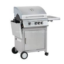 Barbecue à gaz à 3 brûleurs avec table d'appoint pliante