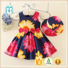ein Frühling Stück Mädchen Kleid Kinder Mädchen Kleidung Casual Baby Mädchen floral Fransen winzigen Kleid