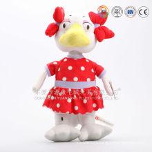 OEM services cut design plush cock ,plush rooster toys