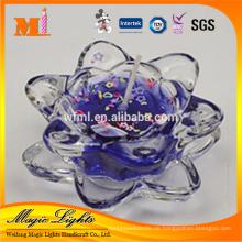 Hochwertige Duftgel-Wachskerze im Kerzenhalter aus Glas
