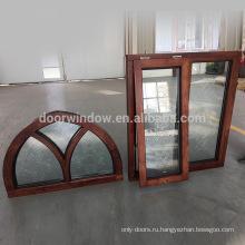 оконная рама с резным стеклом Недорогой дом дубовые окна на продажу