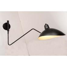 Italy Design Simple Hotel Indoor Matt Black Iron Wall Lamp