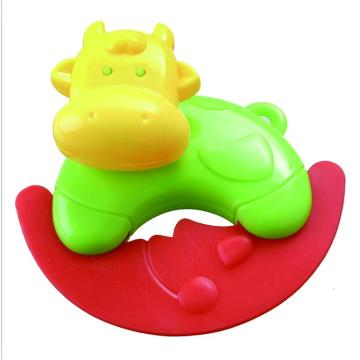 Baby Musical Ring Toy Cow Forma Sonajero