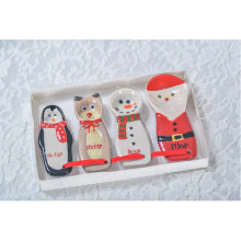 Decorative Custom Printed Snowman Dishes Wholesale Ceramic Plates Christmas
